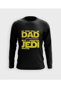 MegaKoszulki - Koszulka męska z dł. rękawem Jedi dad. Materiał: bawełna
