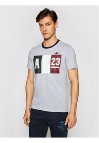 Aeronautica Militare T-Shirt 211TS1866J492 Szary Regular Fit. Kolor: szary