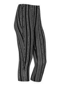 Cellbes Wzorzyste legginsy 3/4 Czarny biały w paski female czarny/biały/ze wzorem 42/44. Kolor: wielokolorowy, biały, czarny. Materiał: włókno, wiskoza, guma. Wzór: paski