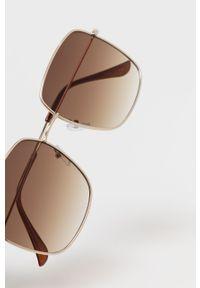 Złote okulary przeciwsłoneczne only