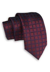 Niebieski krawat Alties w kratkę, elegancki