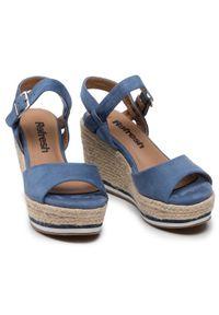 Refresh - Espadryle REFRESH - 72756 Jeans. Okazja: na co dzień. Kolor: niebieski. Materiał: materiał. Styl: casual #6