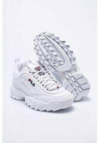 Białe buty sportowe Fila z cholewką, na sznurówki