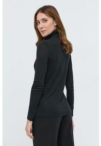 Lauren Ralph Lauren - Sweter. Typ kołnierza: golf. Kolor: czarny. Materiał: dzianina. Długość rękawa: długi rękaw. Długość: długie