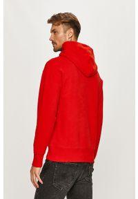 Czerwona bluza nierozpinana Tommy Jeans na co dzień, casualowa, z kapturem