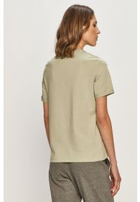 Oliwkowa bluzka Pieces casualowa, z nadrukiem