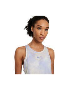 Nike - Koszulka damska do biegania Icon Clash City Sleek CZ9616. Materiał: poliester, dzianina, materiał. Długość rękawa: bez rękawów. Technologia: Dri-Fit (Nike). Wzór: nadruk