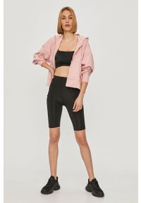 Nike - Bluza. Typ kołnierza: kaptur. Kolor: różowy. Materiał: skóra, włókno, tkanina, dzianina