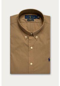 Beżowa koszula Polo Ralph Lauren z długim rękawem, casualowa, na co dzień, polo
