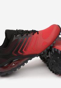 Born2be - Czerwono-Czarne Buty Sportowe Yava. Kolor: czerwony