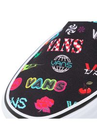 Czarne trampki Vans bez zapięcia