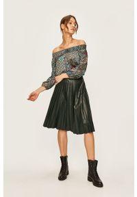 Wielokolorowa bluzka Desigual elegancka, z dekoltem typu hiszpanka, długa