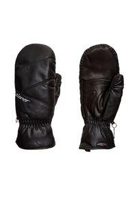 Czarna rękawiczka sportowa Ziener w kolorowe wzory, Primaloft, narciarska