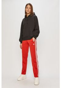 adidas Originals - Bluza. Typ kołnierza: kaptur. Kolor: czarny. Materiał: dzianina, poliester