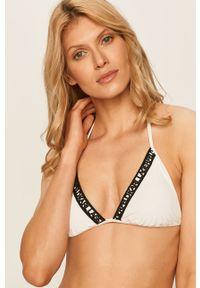 Biały strój kąpielowy Karl Lagerfeld z aplikacjami, z odpinanymi ramiączkami