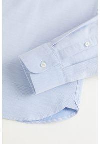 Niebieska koszula Mango Man casualowa, na co dzień