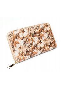 MILANO DESIGN - Pojemny portfel damski brązowy Milano Design. Kolor: brązowy. Materiał: skóra ekologiczna