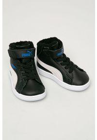 Czarne buty sportowe Puma z cholewką, na rzepy