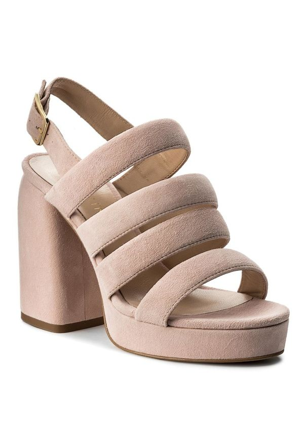 Różowe sandały Eva Minge