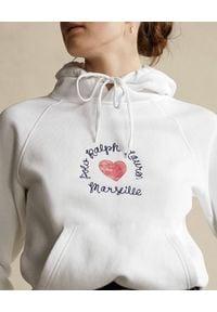 Ralph Lauren - RALPH LAUREN - Biała bluza z kapturem. Okazja: na co dzień. Typ kołnierza: kaptur. Kolor: biały. Materiał: jeans, bawełna. Wzór: napisy, nadruk. Sezon: wiosna. Styl: casual, klasyczny #3