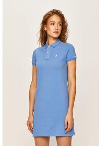 Niebieska sukienka Polo Ralph Lauren na co dzień, polo, z krótkim rękawem