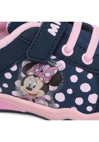 Niebieskie półbuty Minnie Mouse z cholewką, na rzepy, na spacer, z motywem z bajki