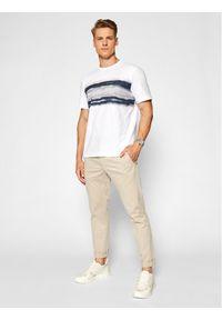 Pierre Cardin T-Shirt 52630/000/11273 Biały Regular Fit. Kolor: biały