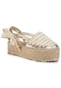 Złote sandały Eva Minge