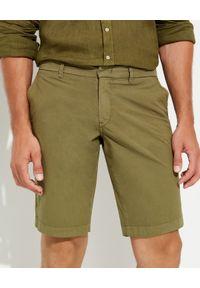 FAY - Bawełniane spodenki khaki. Kolor: zielony. Materiał: bawełna