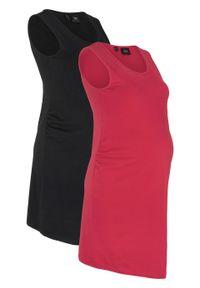 Czarna sukienka bonprix midi, moda ciążowa