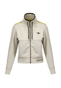 Aeronautica Militare - Bluza rozpinana AERONAUTICA MILITARE. Materiał: tkanina, dresówka. Długość: krótkie. Wzór: moro, nadruk. Styl: militarny