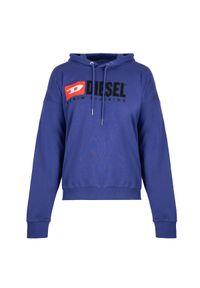 """Diesel Bluza """"Division"""". Okazja: na co dzień. Typ kołnierza: kaptur. Materiał: bawełna. Wzór: aplikacja. Styl: casual"""