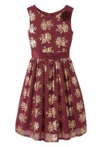 Czerwona sukienka bonprix z nadrukiem