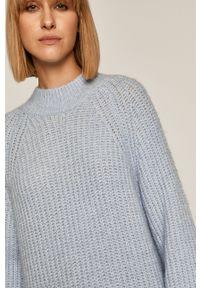 Niebieski sweter medicine z długim rękawem, długi