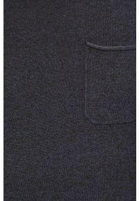 Niebieski sweter Blend z okrągłym kołnierzem
