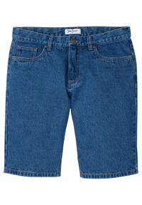 Niebieskie jeansy bonprix gładkie