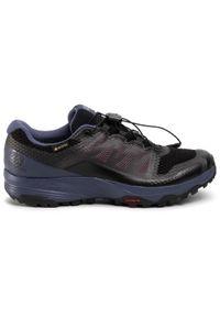 Czarne buty do biegania salomon Gore-Tex, na co dzień, z cholewką