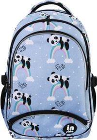 Incood Plecak trzykomorowy Panda niebieski. Kolor: niebieski