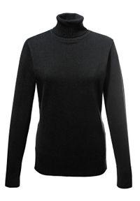 Sweter basic z golfem bonprix czarny. Typ kołnierza: golf. Kolor: czarny
