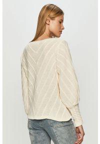 Biały sweter Haily's długi, z długim rękawem, casualowy