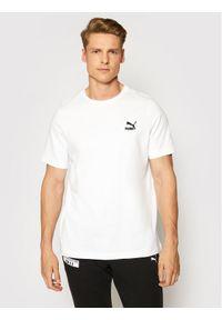 Puma T-Shirt Classics Embro 599795 Biały Regular Fit. Kolor: biały