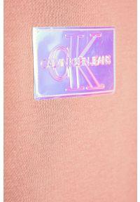 Różowa sukienka Calvin Klein Jeans prosta, mini
