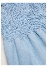 mango - Mango Sukienka codzienna Dulipa 87079059 Niebieski Regular Fit. Okazja: na co dzień. Kolor: niebieski. Typ sukienki: proste. Styl: casual