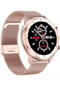 Złoty zegarek ZAXER smartwatch, sportowy