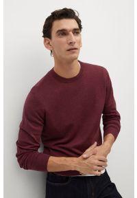 Turkusowy sweter Mango Man na co dzień, z długim rękawem, casualowy