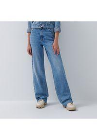 House - Jeansy wide leg z wysokim stanem - Niebieski. Stan: podwyższony. Kolor: niebieski