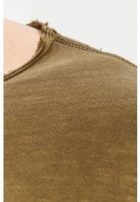 Jack & Jones - T-shirt. Okazja: na co dzień. Kolor: oliwkowy. Materiał: dzianina, bawełna. Wzór: gładki. Styl: casual #2