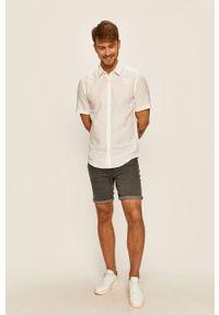 Biała koszula Only & Sons krótka, z klasycznym kołnierzykiem, klasyczna