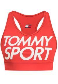 Czerwony biustonosz sportowy Tommy Sport