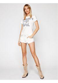 Biały t-shirt One Teaspoon rockowy